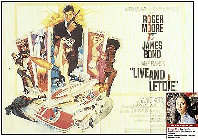 James Bond  Golden Gun Live And Let Die    Double Sided Mini Poster ( FTA35)