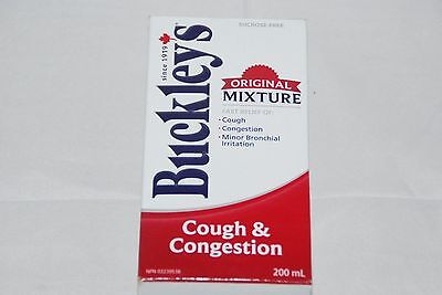 BUCKLEY'S Original Cough and Chest Congestion 200 ML Canadian