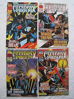 The FURTHER ADVENTURES of CYCLOPS & PHOENIX :COMPLETE 4 ISSUE SERIES.MARVEL.1996