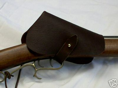 muzzleloader  black powder  leather lock cover  hunting