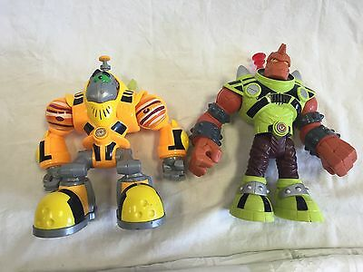 Lot Of 2 2007 Fisher Price Mattel Planet Heroes Talking Action Figures