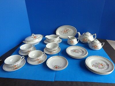 Antique Set Of China Children's  Dishes- 25 Pieces With Serving Pieces