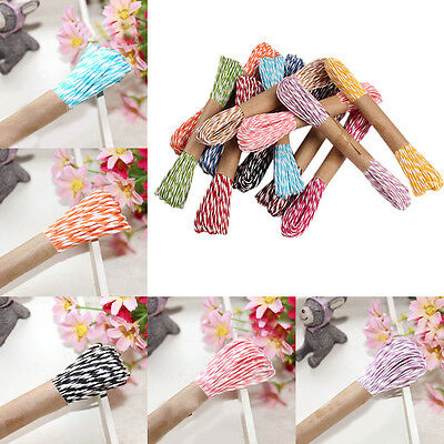 Hot Twine Cord Wedding Party Decoration Cotton Rope Ribbon 9Colors 1Roll 10M/2MM