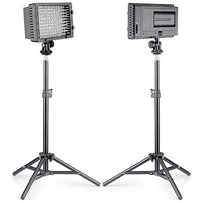 Neewer 2 set Photo Studio CN-216 LED Lighting Kit for Canon Nikon Pentax DSLR
