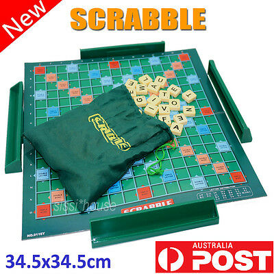 Game Letters Tiles Orginal Scrabble Board For Family Kids Travel Party Toy AU