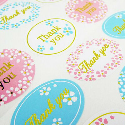 "120Pcs Oval Multi-Color ""Thank You"" Adhesive Seal Sticker Label Envelope Decor"