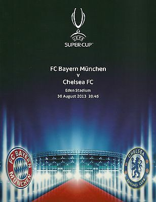Mappe UEFA Super Cup 2013 Bayern München - Chelsea FC