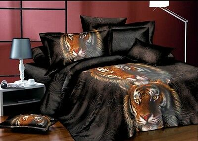 3D Bedding Set with Tigers Single Double King Size Duvet Cover Best Gift Present