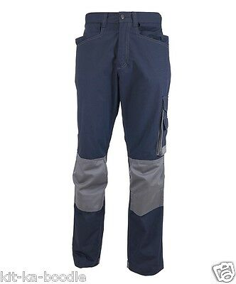 Tungsten Mens Navy Cargo Combat Trousers Warehouse Workwear Pants CR34
