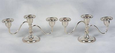 2 Benedict Proctor Silver Plated Candleabras