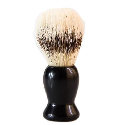 Practical Bristles Shaving Brush with Black Plastic Handle for Razor Salon
