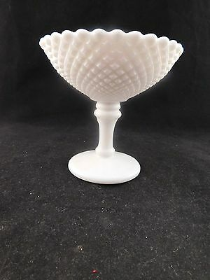 Eapg Westmoreland No. 555 Milk Glass English Hobnail Jelly Compote - Ca 1960's