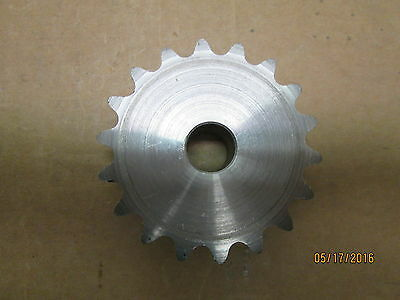 "NO KEY WAY #35 CHAIN 18 TOOTH   1//2/"" STOCK BORE 35B18 SPROCKET"