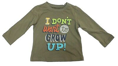 """First Impressions """"Don't Grow Up"""" Top Shirt Baby Boys Toddler 18 Months"""