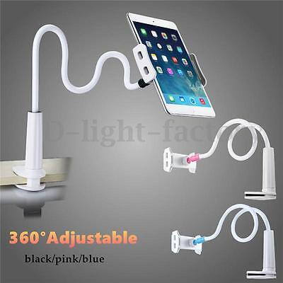 360 Rotating Gooseneck Lazy Bed Tablet Holder Mount For iPhone iPad Air NEW