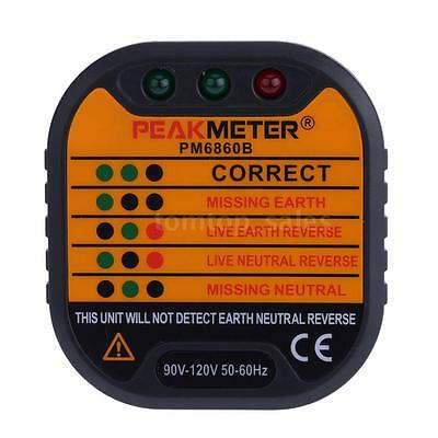 PM6860B Automatic Electric Socket Tester Live Earth Wire US Plug 90V-120V S3Z4