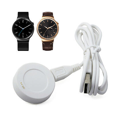 white Charging Cradle Smart Watch Charger Dock + USB Cable For Huawei SmartWatch