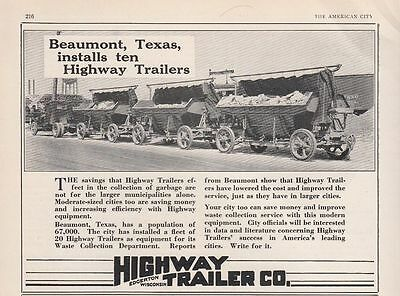 1930 Highway Trailer Co Edgerton WI Ad: Beaumont TX Texas Highway Trailers