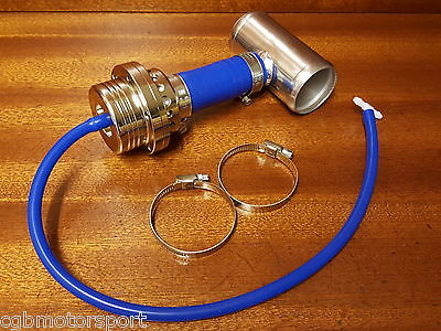 Renault 5 Gt Turbo New Piston Dump Blow Off Valve + Fitting Kit Blue / Silver