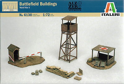 Italeri 1/72 (20mm) WWII Battlefield Buildings