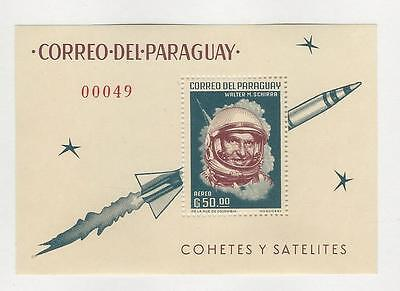 Paraguay, Postage Stamp, #751a Mint NH Sheet, 1963 Space