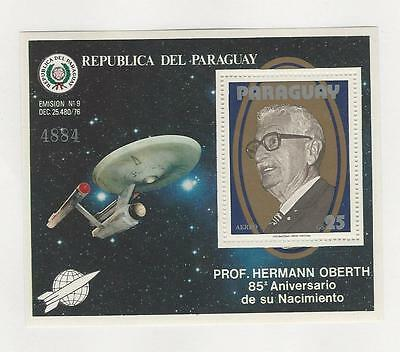 Paraguay, Postage Stamp, #C469 Mint NH Sheet, 1979 Space