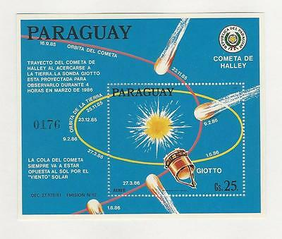 Paraguay, Postage Stamp, #C654 Mint NH Sheet, 1986 Space