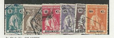 Quelimane, Portugal Colony, Postage Stamp, #27-30, 37, 39 Used, 1914