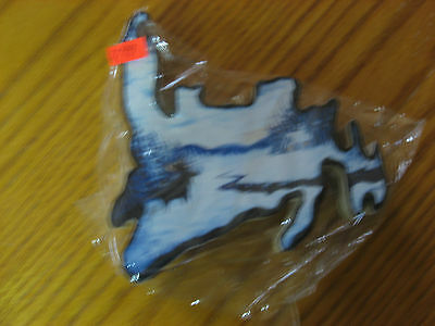 Newfoundland Small Wooden Wall Hanging Winter Scene Moose