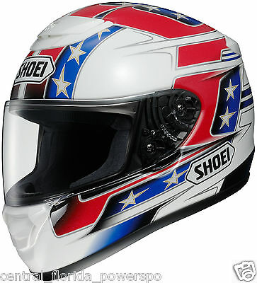 dad98d45 Shoei Qwest Banned Full Face Motorcycle Helmet Red White Blue size Medium