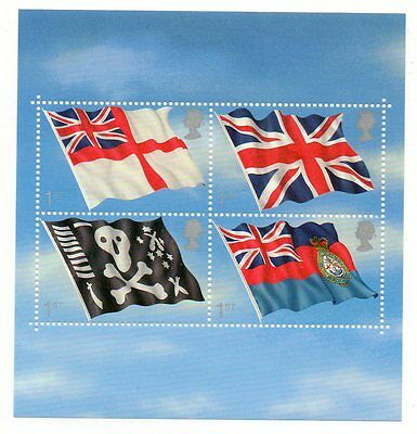 GB 2001 Flags & Ensigns unmounted mint mini / miniature sheet MNH stamps