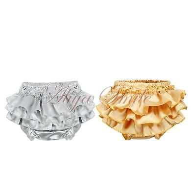 Baby Toddler Infant Girl Ruffle Bloomer Panties Pettiskirt Underwear Nappy Cover