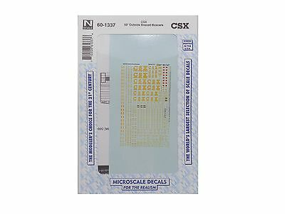 N CSX 50' Outside Braced Boxcars Train Decals - Microscale #60-1337