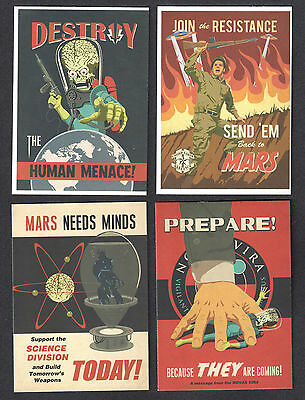 MARS ATTACKS! INVASION (Topps/2013) Complete JOIN THE FIGHT Chase Card Set (4)