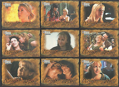 XENA THE QUOTABLE (Rittenhouse 2003) Complete WORDS FROM THE BARD Chase Card Set