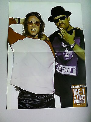 Ice T / Tony Wright  James Hetfield Metallica      Double Sided   Poster (LMC92)
