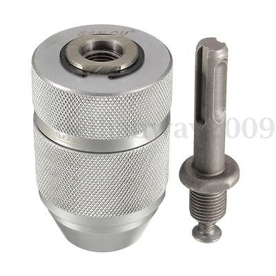 Professional Heavy Duty 13MM Keyless Drill Chuck With SDS Adaptor Driller Fit