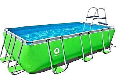 SWIMMING POOL 4m x 2m x 1m RECTANGULAR DELUXE ULTRA FRAME  PUMP/LADDER/FILTER