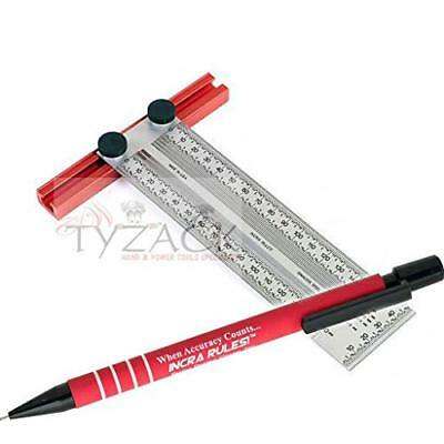 Incra New Metric 150mm Precision T-Square T-Rule 707520 + Incra Pencil