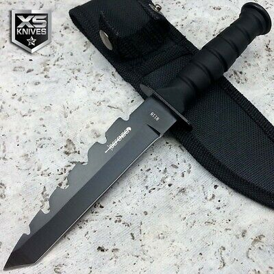 "6"" Tactical MILITARY Green FIXED BLADE Combat Hunting SURVIVAL Knife w/ Sheath"