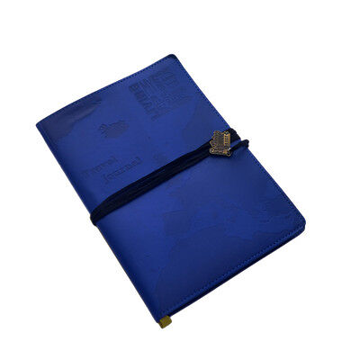 WORLD TRAVEL JOURNAL Blue Embossed Bucket List Holiday Travellers Notepad Book