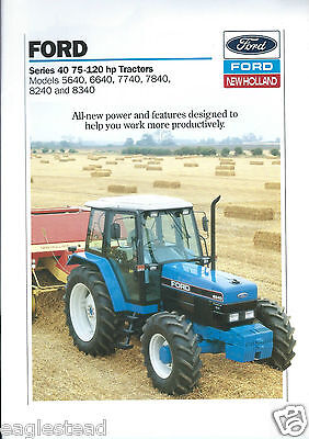 Farm Tractor Brochure - Ford - 5640 6640 7740 7840 8240 8340 Series 40  (F4326)
