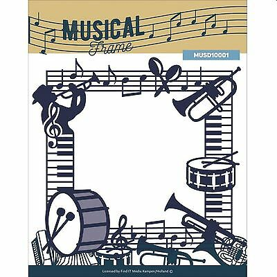 "FIND-IT MEDIA MUSICAL FRAME 5 x 5"" DIE SET WITH MUSICAL NOTES & INSTRUMENTS"