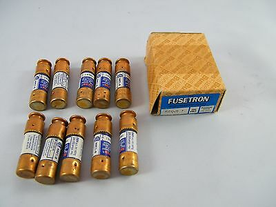 Lot Of 10 New Fusetron Dual Element Time Delay 1A Fuse # Frn-R-1 250V Bussmann