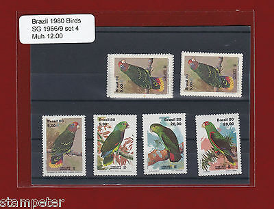 1980 Brazil Birds SG 1966/9 Set of 4 MUH
