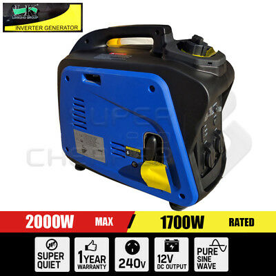 Portable 4 Stroke Pure Sine Wave Petrol Power Inverter Generator Max 2.0KW Rated