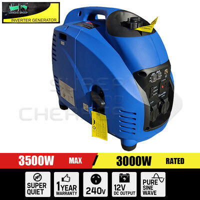 Portable 4 Stroke Pure Sine Wave Petrol Power Inverter Generator Max 3.5KW Rate