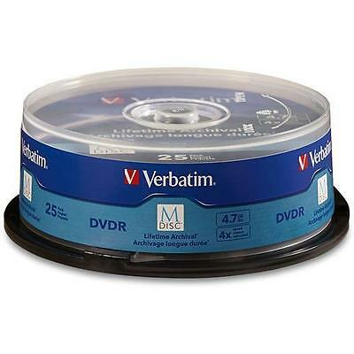 Verbatim 98908 M Disc DVD-R 4.7GB 4X with Branded Surface - 25pk Spindle
