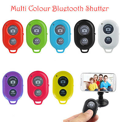Wireless Bluetooth Remote Shutter Button For Selfie Stick Monopod Phone Pole New