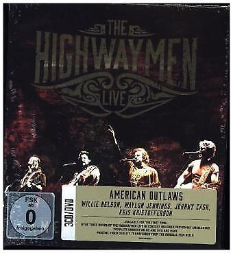 The Highwaymen - Live - American Outlaws (3-CD/DVD) CD (4) Col NEW